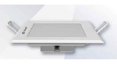embutido led integrado cuadrado ultraslim 140x140 11w candil