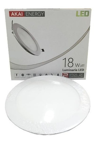 embutido led redondo 18w akai interelec macroled 3000/6000k