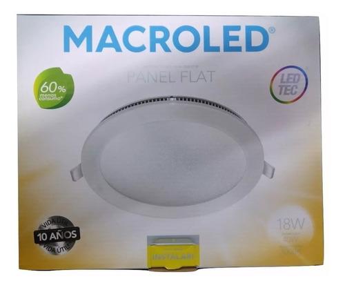embutido led redondo 18w interelec macroled x10unid