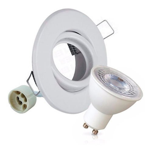 embutido luces dicroicas led 7w dimerizable completo blanco