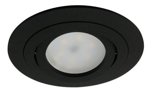 embutido luminaria fidel gu10 led techo candil blanco,negro