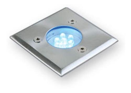 embutido piso cuadrado led 0,6w 220v uso exterior ip54