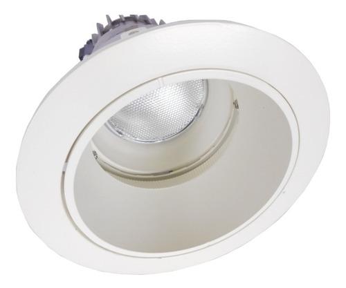 embutido profundo ajustable color blanco mate, para lámpara
