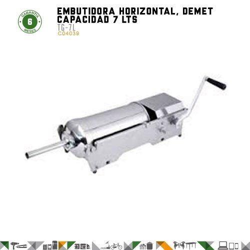 embutidora manual horizontal demet 7 litros - fama