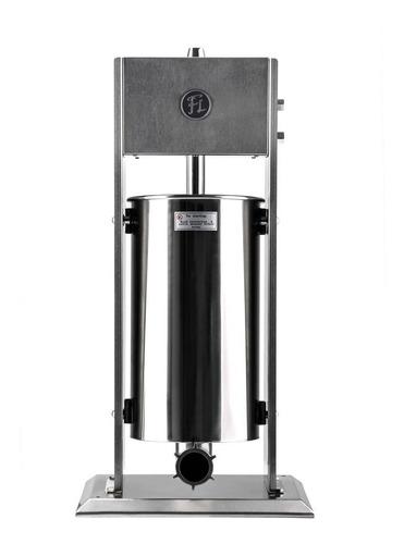 embutidora vertical manual fineschi 15 lt ac. inox 3 embudos