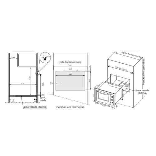 embutir fischer 44l forno elétrico