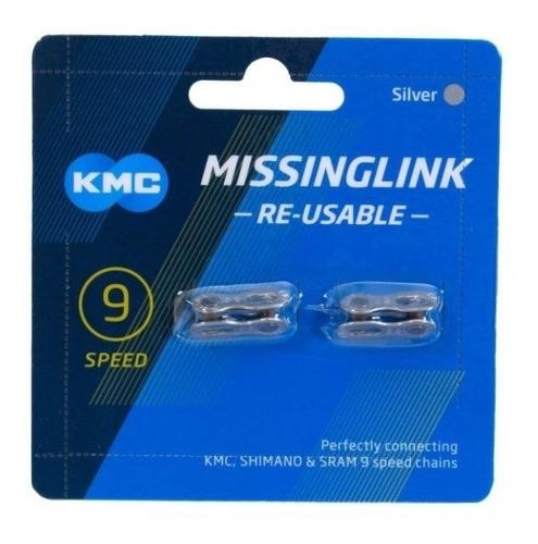 emenda corrente kmc 9v power link silver prata - speed mtb