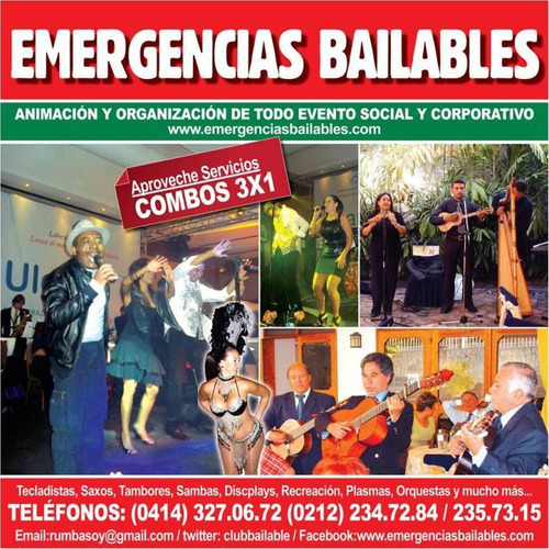 emergencias bailables gaitas tambor sambas humor shows
