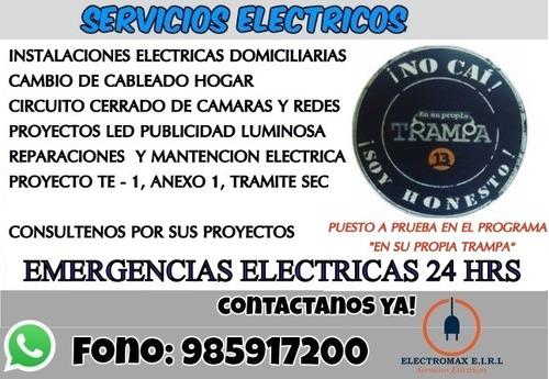emergencias electricas 24 horas , eléctrico autorizado sec