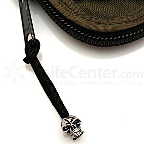 emerson skull bead with zipper pull original made in u.s.a!