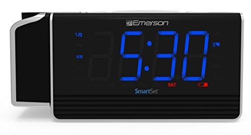 emerson smartset projection alarm clock radio con carga usb