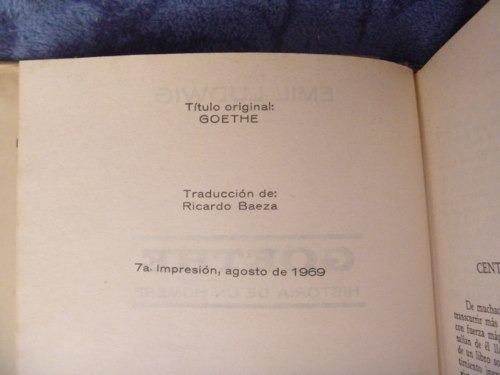 emil ludwig, goethe, diana, méxico, 1969, 557 págs.