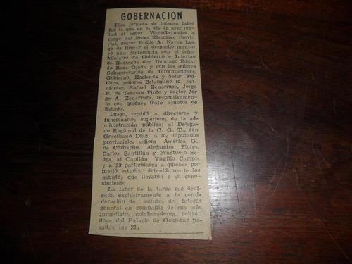 emilio a navea graciliano diaz cgt gobernacion jujuy 1953