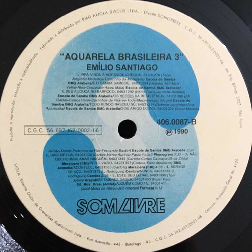 emílio santiago - aquarela brasileira 3 álbum