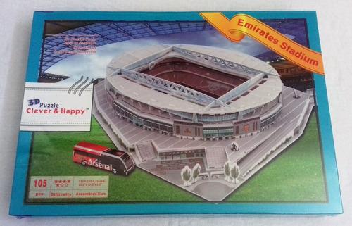 emirates stadium, rompecabezas en 3d
