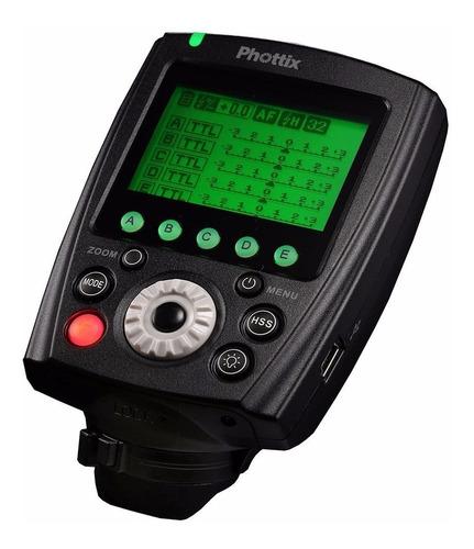 emisor radio phottix odin 2 ttl p/ flash indra500 sony iso