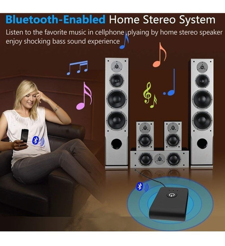 emisor transmisor receptor bluetooth audio tv smart 2 punto