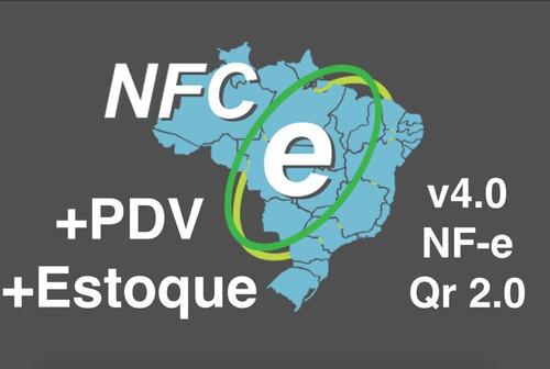 emissor nfc nfe nota fiscal 4.0 com pdv + codigo fonte