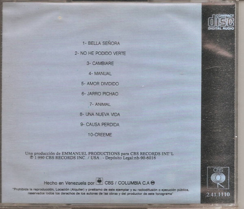 emmanuel  - cd  original   - un tesoro musical