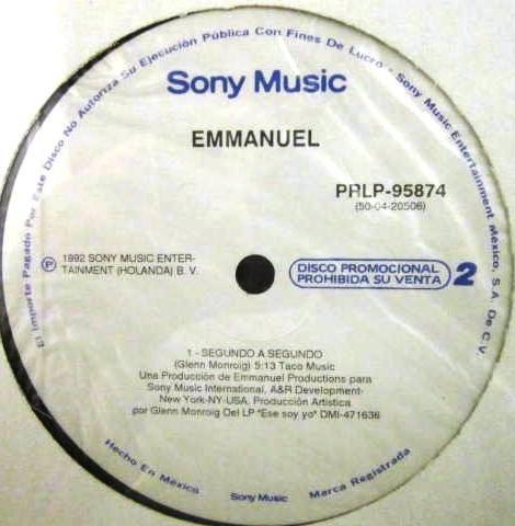 emmanuel - segundo a segundo single promo nuevo cerrado lp