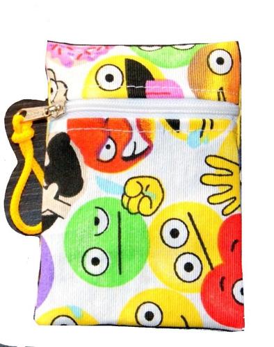 emoji emoticón monedero niña niño souvenir 12x8cm