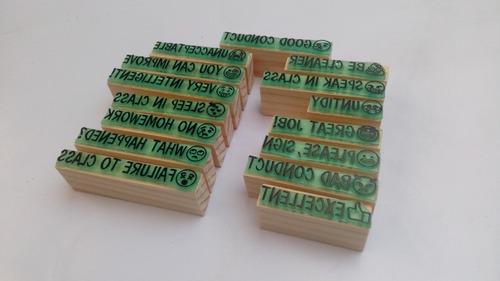 emoji frases para calificar en inglés 15 sellos  modelo 2