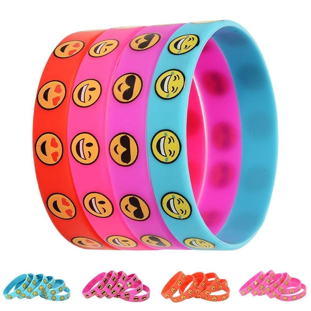 c5277d1f3e5aa Emoji Smile Emoticon Silicone Wristband Bracelets Silicone W