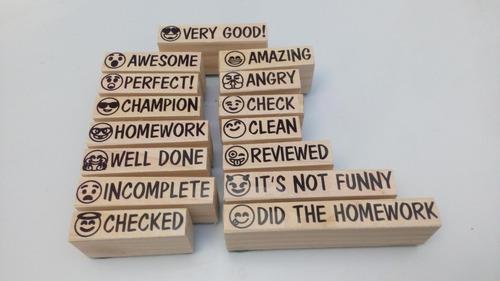 emojis frases para calificar en inglés 15 sellos  modelo 1