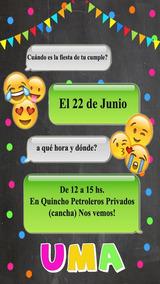 Emojis Invitación Tarjeta Digital Imprimible Whatsapp