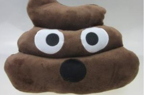 emoticon de peluche popó (poop) de whatsapp 35 cms
