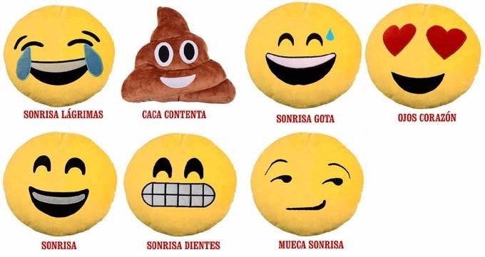 Emoticones Emoji Caritas De Whatsapp 35x35cm Cojines