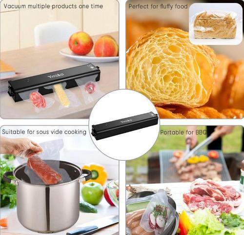 empacadora selladora alimentos al vacio negra con bolsas w01