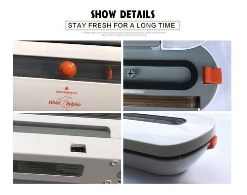 empacadora selladora alimentos al vacio portatil + 10 bolsas