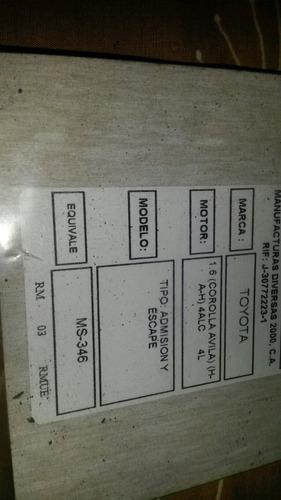 empacadura admision escape corolla avila 1.6