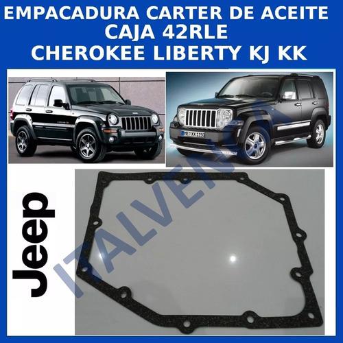 empacadura carter caja 42rle jeep cherokee liberty 3.7 kj kk