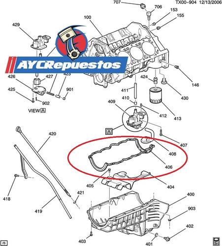 empacadura carter cargo van express 2008-up original