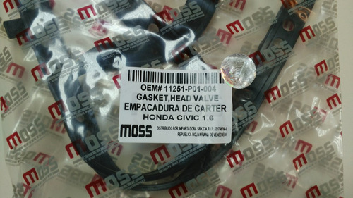 empacadura carter honda civic 1.6 1996-2000 moss