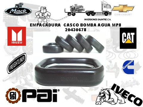 empacadura casco bomba de agua mack mp8