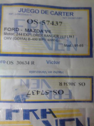 empacadura de carter ford explore 4.0 ohv año 91/95