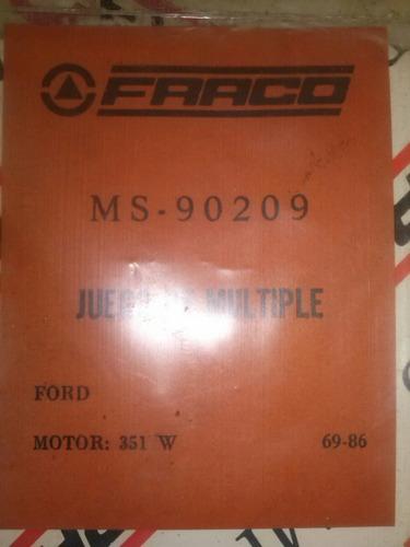 empacadura múltiple ford motor 351 año 69-86