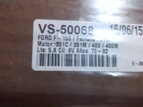 empacadura tapa valvula f-100/failane/ltd/m-351c/351m/400/