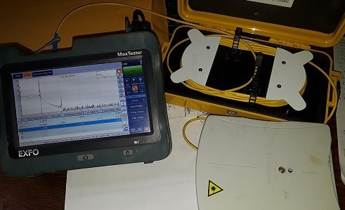 empalme y medición de fibra optica, certificacion, cableado