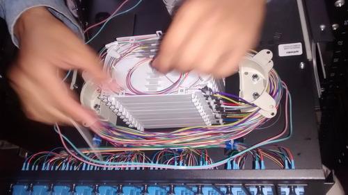 empalmes y mediciones por fusión de fibra optica