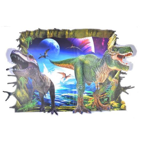 empapelado 3d piso/pared mural adhesivo extraíble dinosaurio