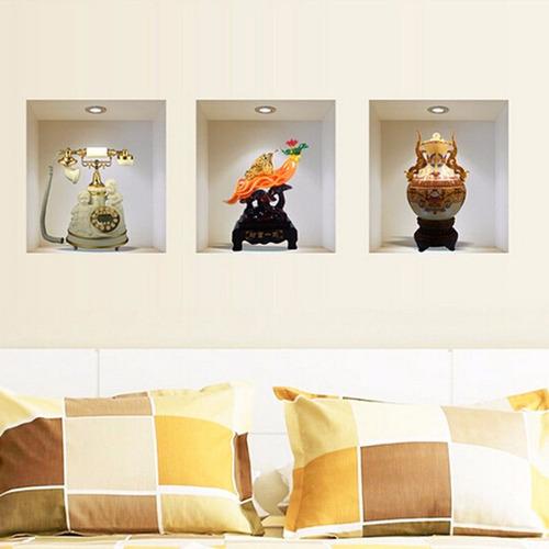 empapelado 3d set stikers adhesivo muro pared vintage modern