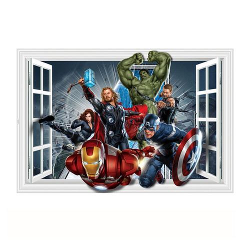 empapelado mural 3d vengadores araña hulk thor adhesivo