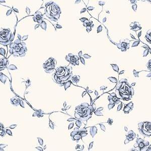 empapelado papel muresco iara 711 liberty flores azul blanco