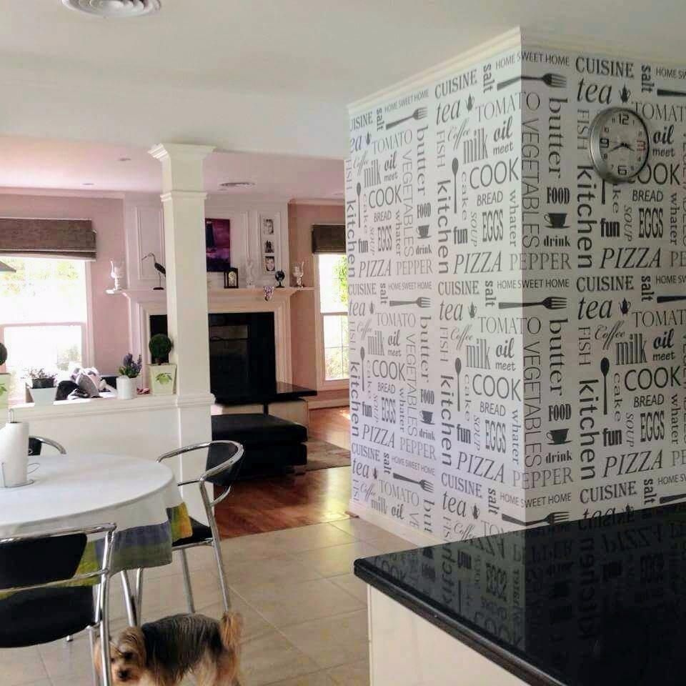 Empapelado Revestimiento Vinilo Lavable Pared Muebles Cocina  # Muebles Empapelados