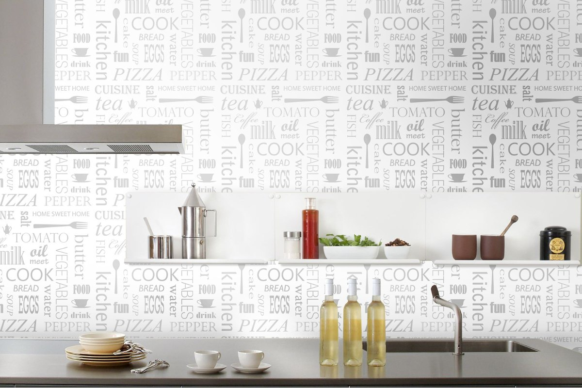 Papel vinilico para cocinas perfect baos decorados con for Papel vinilo pared