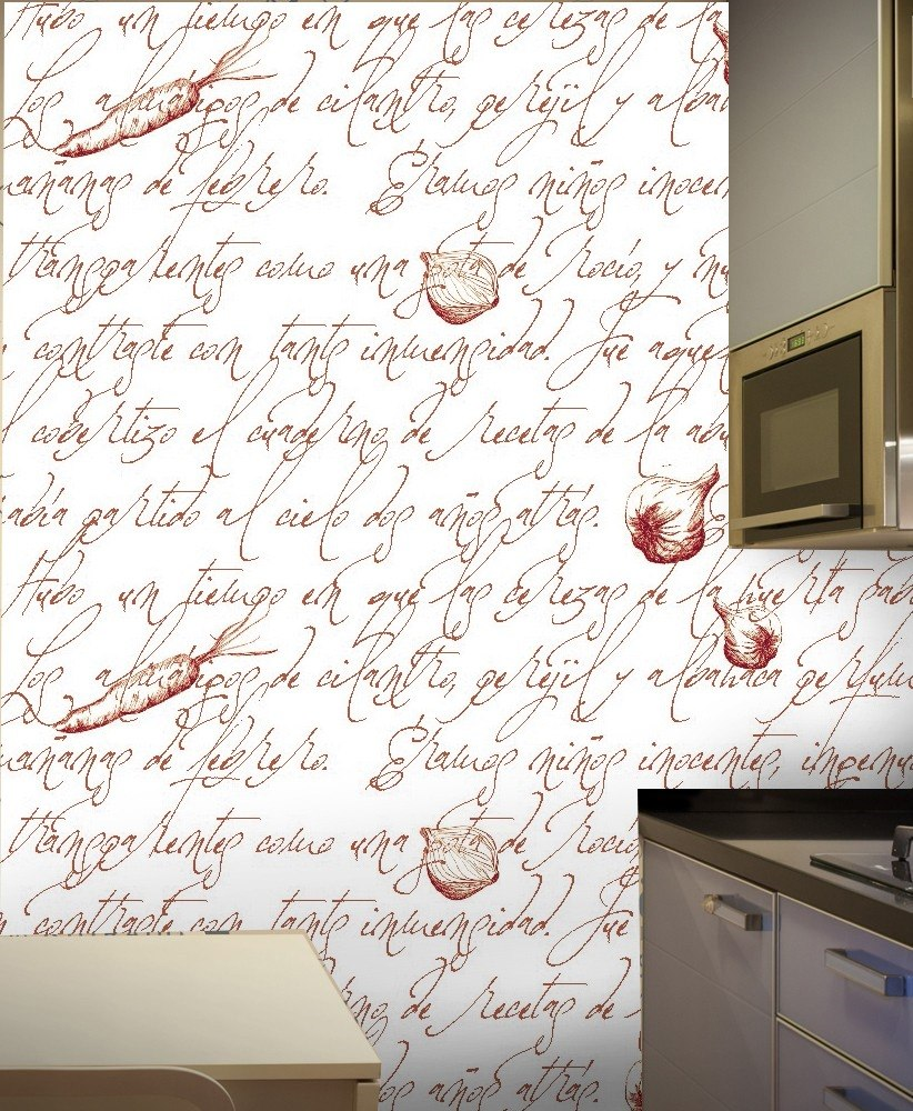 Empapelado Vinilo Autoadhesivo Cocina Muebles Modelo Letters  # Muebles Empapelados